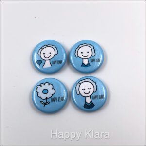 Happy Klara Button Mix (4 Stück)