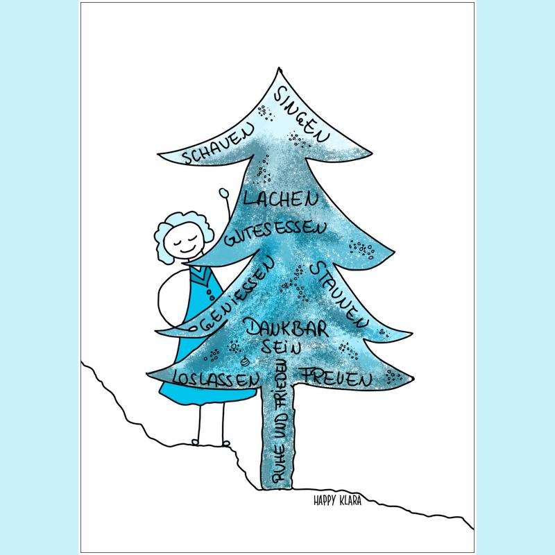 Happy Klara wünscht eine schöne Weihnachtszeit